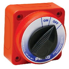 Compact Surface or Flush Mount Marine Main Battery Disconnect Switch for Boats