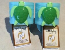 2 YANKEE CANDLE DISCONTINUED TURTLE SCENT PLUG PLUGIN DIFUSSER BASE ONLY