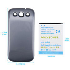 4500mAh Extended Battery + Blue Back Case Cover for Samsung Galaxy S3 III i9300