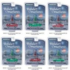 GREENLIGHT 40010 HOLIDAY ORNAMENTS SET OF 6 DIECAST CARS 1:64 PRE SALE!!