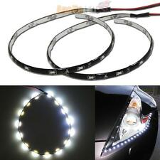 One Pair of White 12 inches 15-SMD LED Side Glow Strip Lights Waterproof #31