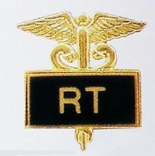 RT Radiology Technician Tech Pin Medical Black Inlaid Caduceus 3504B New