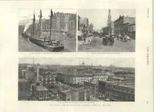 1892 Domestic Service West Indies Great Fire Milwaukee View From Goodrich Dock