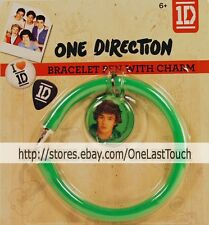 1D ONE DIRECTION 2 pc Set GREEN BRACELET PEN+CHARM Stocking Stuffer LIAM PAYNE