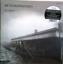 PIG RIDER - HETEROPHONIES 75 UK DIY TWISTED PSYCH FOLK POP + HOMEMADE EFX SLD LP