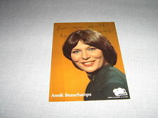 ANNIK BEAUCHAMPS CARTE POSTALE TF1 DEDICACE