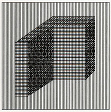 Iconic Sol LeWitt abstract silkscreen print, 1984, limited edition