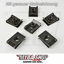 20x supporto in metallo parentesi madre di bloccaggio VW GOLF AUDI a4 a6 m6 x 23.4 x 16 #neu #