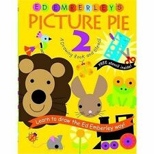 Picture Pie 2: A Drawing Book and Stencil by Ed Emberley, NEW, Paperback, c2005
