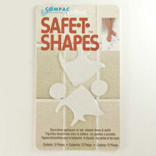 Safe-T-Shapes White Fish Non-Slip Safety Applique Stickers - Bath, Tub & Shower