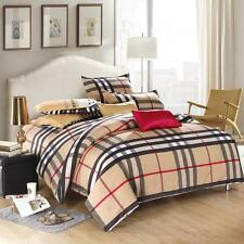 HOT Sale British Style Bedding Set Queen Size Quilt Duvet Cover Pillowcases #K