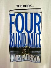 JAMES PATTERSON Four Blind Mice lrg T shirt 2002 book signing tour Alex Cross OG