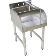 Stainless Steel Blender Station - Sink and Shelf- Ice Cream Commercial Equipment