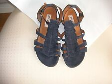 Paul Green-BEAUTIFUL Navy Leather Sandals–UK size 4(EU 37) (nearly new)RRP £139