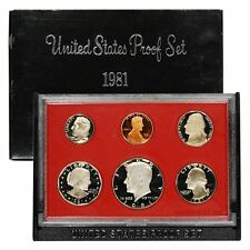 1981-S Proof Set United States US Mint Original Government Packaging Box SBA $