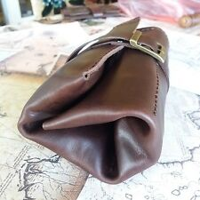 Crazy Horse Leather Watch Roll  Watch case Storage 4 pouch Travel bag Handmade