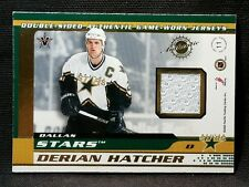 2002 Pacific Vanguard DERIAN HATCHER MIKE MODANO Double Sided Game Used Jersey