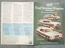 1975 FORD STATION WAGONS BROCHURE– THREE SIZES FROM THE WAGONMASTER – PINTO GRAN