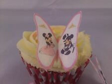 12 Disney Mickey & Minnie Boda Mariposas * dulce * Comestible Cupcake Toppers