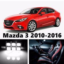 8pcs LED Xenon White Light Interior Package Kit for Mazda 3