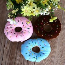 Hot Lovely Chew Donut Play Toys Pet Dog Puppy Cat Squeaker Quack Sound Toy 1Pc