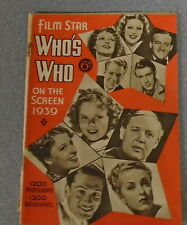 FILM STAR 'WHO'S WHO' ON THE SCREEN 1939 - AMALGAMATED PRESS *UK POST £3.25*
