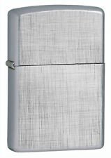 Zippo 28181, Linen Weave Chrome Finish Lighter, Full Size