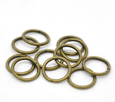 50 X Antiguo Bronce Abierto jumprings / Saltar Anillos - 10mm-b1350050 X Antiguo Bron