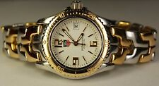 Ladies Tag Heuer Solid 18K Gold SS WT1352 White Professional 200m Swiss Watch