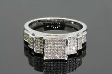 .42 CARAT 100% GENUINE DIAMONDS WOMENS WHITE GOLD FINISH ENGAGEMENT WEDDING RING