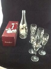 1999 Perrier Jouet Champagne Brut Fleur DeChampagne Rose in Box with 5  Glasses