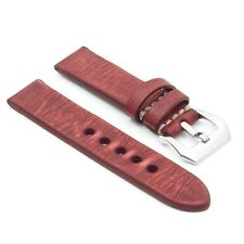 StrapsCo EXTRA LONG Distressed Vintage Leather Watch Band Mens Strap