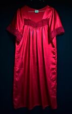 LIQUID SATIN CHARMEUSE NIGHTGOWN SCARLET RED SEXY ANTIQUE COSPLAY SISSY 14 M