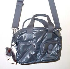 NEW Kipling DEFEA GREY GRAY NYLON WOMENS HANDBAG SHOULDER PURSE SATCHEL HB6723