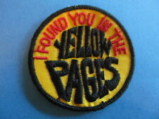 Vintage 70's Biker Vest Trucker Hat Hippie Jacket Patch YELLOW PAGES Black