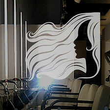 HAIR SALON, HAIRDRESSERS - Frosted Etched Vinyl Window Sticker - Large