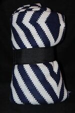 Attention Diamond Jacquard Knit Throw  Navy 50 x 60 in