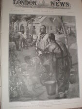 Workers from China South Africa mines Rand off duty gardening 1905 old print