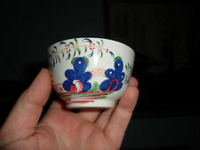 Antique circa 18th century hand painted tea bowl. Gaudy style? Newhall? Chinese?