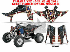 AMR RACING DEKOR GRAPHIC KIT ATV YAMAHA YFZ 450 04-14,YFZ450R WORLD WAR WW2 B