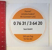 Aufkleber/Sticker: Panne Unfallschaden - Sum GmbH 24h Am Tag (04041698)