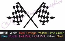 ** CHECKERED RACE FLAGS ** Car Decal, Vinyl, Drift Sticker, JDM, EURO, DUB