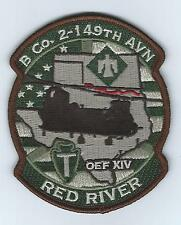 "B CO 2-149TH AVN OEF XIV ""RED RIVER""  desert patch"