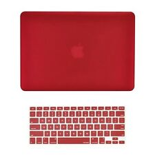 "WINE RED Matte Hard Case + Keyboard Cover Skin for Macbook Pro 13"" Model A1278"