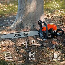"52CC 22"" EPA CHAINSAW CUTTING WOOD GAS CHAIN SAW ALUMINUM GASOLINE 2.7HP ENGINE"