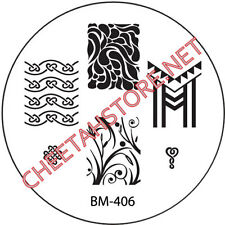 Stamping plaque Bundle Monster BM406 pour vernis ongles