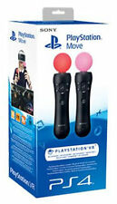 PS4 SONY PLAYSTATION 4 VR MOVE TWIN PACK SET MOTION CONTROLLER MOVIMENTO PS3 3