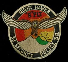 "USAF 3rd Security Police Squadron ""B"" FLT Night Hawks Clark AB Patch RP-3"