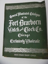 c.1915 Fort Dearborn Watch & Clock Co Wholesale Catalog Jewelry Silverware Glass