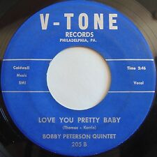 BOBBY PETERSON QUINTET: Love You Pretty Baby BLACK ROCKER 45 on V-TONE hear it